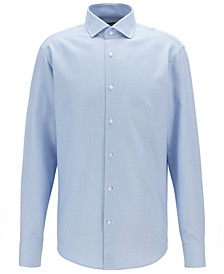 BOSS Men's Regular-Fit Two-Colored Italian Cotton Twill Shirt