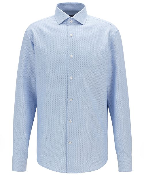 Hugo Boss BOSS Men's Regular-Fit Two-Colored Italian Cotton Twill Shirt