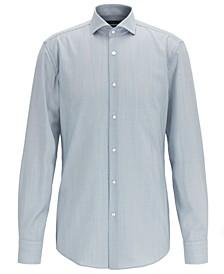 BOSS Men's Jason Slim-Fit Striped Merino Wool Shirt