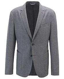 BOSS Men's Hooper Slim-Fit Easy-Care Melange Virgin Wool Jacket
