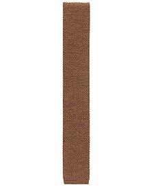 BOSS Men's Italian-Made Knitted Piqué Wool Tie