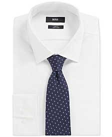 BOSS Men's Italian-Made Silk Micro-Pattern Tie