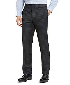Men's Classic-Fit UltraFlex Stretch Plaid Dress Pants