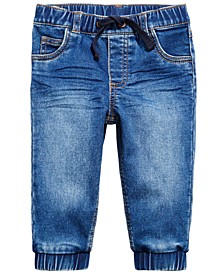 Baby Boys Denim Jogger Pants, Created for Macy's