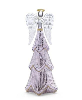 Mercury Glass Lit Angel