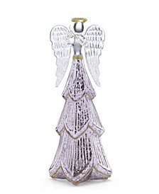 Mercury Glass Lit Angel