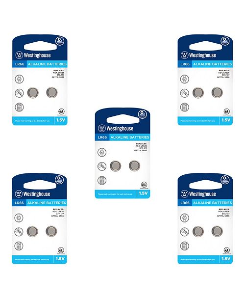 Westinghouse Alkaline Button Cell Battery AG4 1.5V ( 10 Pack)