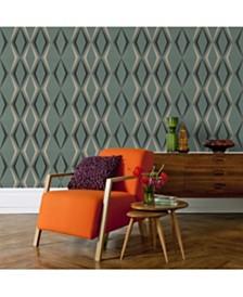 Graham Brown Deco Diamond Green Wallpaper