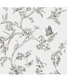 Graham Brown Nature Trail White Mica Wallpaper