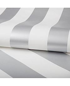 Graham Brown Silver Stripe Wallpaper