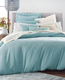 Lucky Brand Reversible 2-Pc. Tile Seed Stitch Twin/Twin XL Comforter Set, Created for Macy's