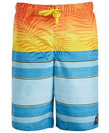 Big Boys Faded Palm Swim Shorts
