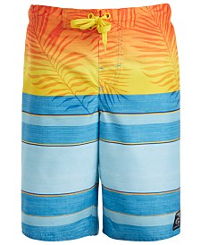 Laguna Big Boys Faded Palm Swim Shorts
