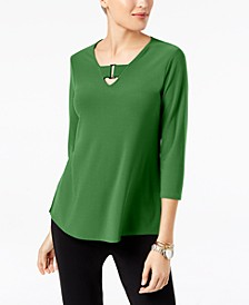Petite Buckle-Detail Tunic, Created for Macy's