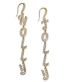 INC Gold-Tone Pavé Holly Jolly Mismatch Linear Drop Earrings, Created For Macy's