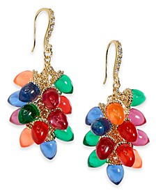 INC Gold-Tone Pavé & Multicolor Lightbulb Drop Earrings, Created for Macy's