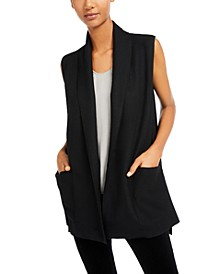 Open-Front Shawl-Collar Vest