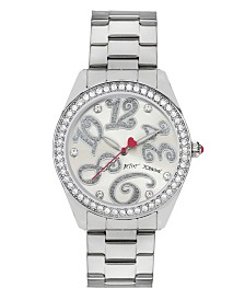 Betsey Johnson Silver Watch 40mm
