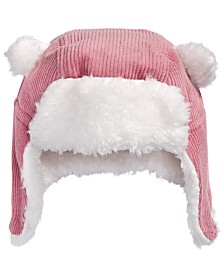 First Impressions Baby Boys & Girls Faux Fur-Trim Corduroy Hat, Created for Macy's
