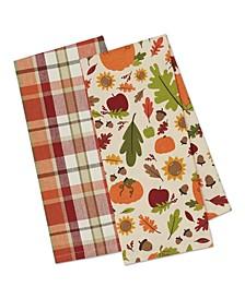 Pumpkin Spice Plaid Dishtowel