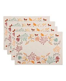 Autumn Leaves Embellished Placemat Set
