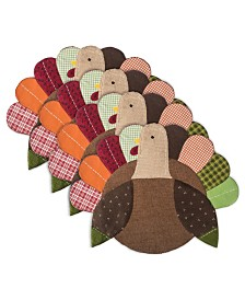 Design Imports Embroidered Turkey Placemat Set