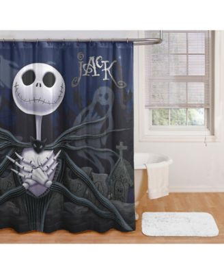 Disney Nightmare Before Christmas Black Shower Curtain