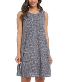 Karen Kane Leopard Print A-Line Sleeveless Dress