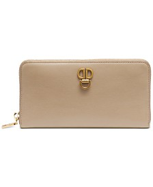 DKNY Linton Leather Zip Around Wallet, Created for Macy's