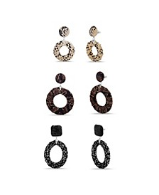 Animal Print Earring Set