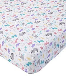 Cotton Sateen Crib Sheet - Woodland Print