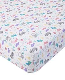 Carter's Cotton Sateen Crib Sheet - Woodland Print