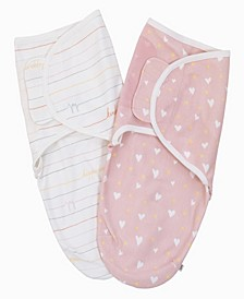 Cotton Tail Stripes and Hearts Swaddle 2-Pack