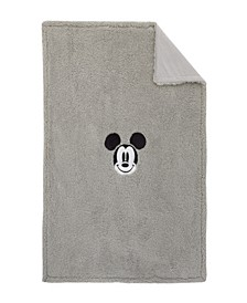 Mickey Mouse Sherpa Blanket with Applique