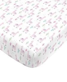 Nojo Llama Crib Sheet