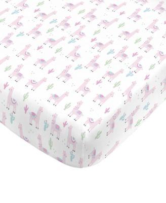 Llama Mini Crib Sheet