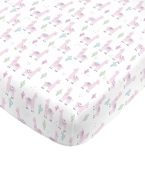 NoJo Llama Mini Crib Sheet