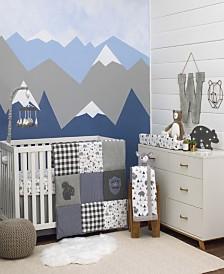 NoJo Mountain Patchwork 4-Piece Crib Bedding Set