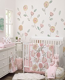Beautiful Floral 10-Piece Crib Bedding Set