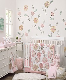 Nojo Beautiful Floral 10-Piece Crib Bedding Set