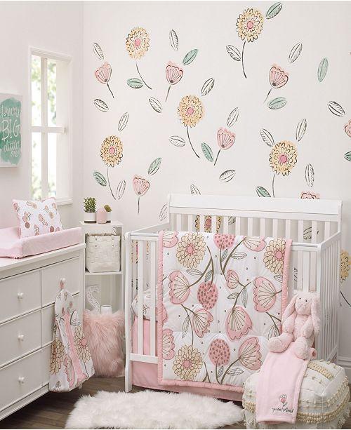 NoJo Beautiful Floral 10-Piece Crib Bedding Set