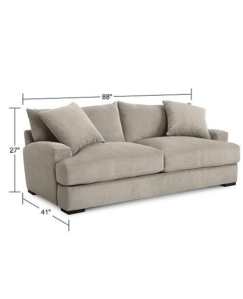 Furniture Rhyder 88 Fabric Sofa