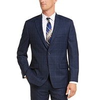 Deals on Michael Kors Mens Classic-Fit Airsoft Stretch Plaid Suit Jacket
