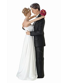 Bride and Groom Dancing Figurine Caucasian