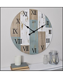 "Firstime & Co 24"" Timber Planks Wall Clock"