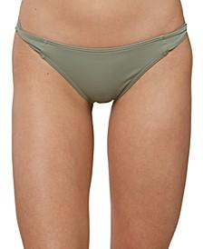 Juniors' Salt Water Solids Twist-Tab Bikini Bottoms