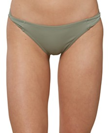 O'Neill Juniors' Salt Water Solids Twist-Tab Bikini Bottoms