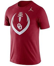 Jordan Men's Oklahoma Sooners Dri-Fit Cotton Icon T-Shirt