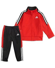 adidas Toddler Boys 2-Pc. Tri-Color Jacket & Pants Set