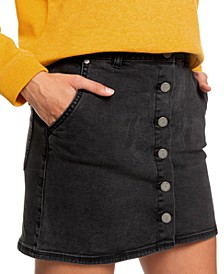 Juniors' Wild Young Spirit Denim Skirt